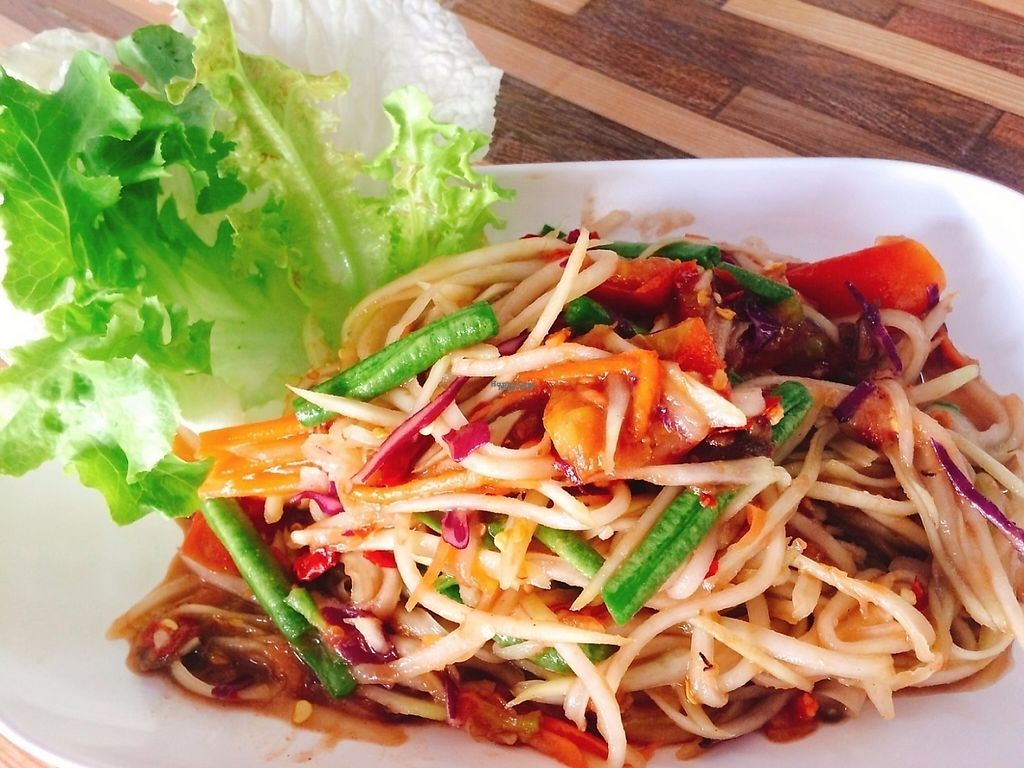 """Photo of Bee Vegan  by <a href=""""/members/profile/JustineBeBo"""">JustineBeBo</a> <br/>Som Tam Thai (Papaya Salad) <br/> February 19, 2017  - <a href='/contact/abuse/image/87311/228199'>Report</a>"""