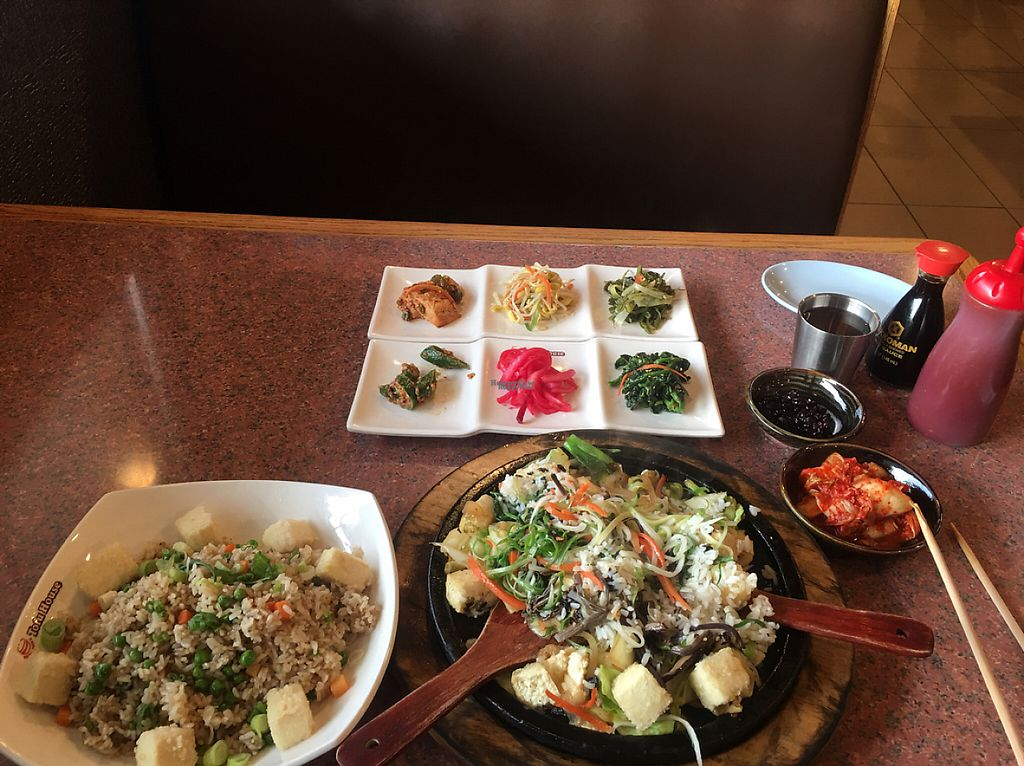 """Photo of Red Stone Tofu House  by <a href=""""/members/profile/DonHelling"""">DonHelling</a> <br/>tofu and veggie dishes at Red Stone Tofu House <br/> February 18, 2017  - <a href='/contact/abuse/image/87319/227763'>Report</a>"""