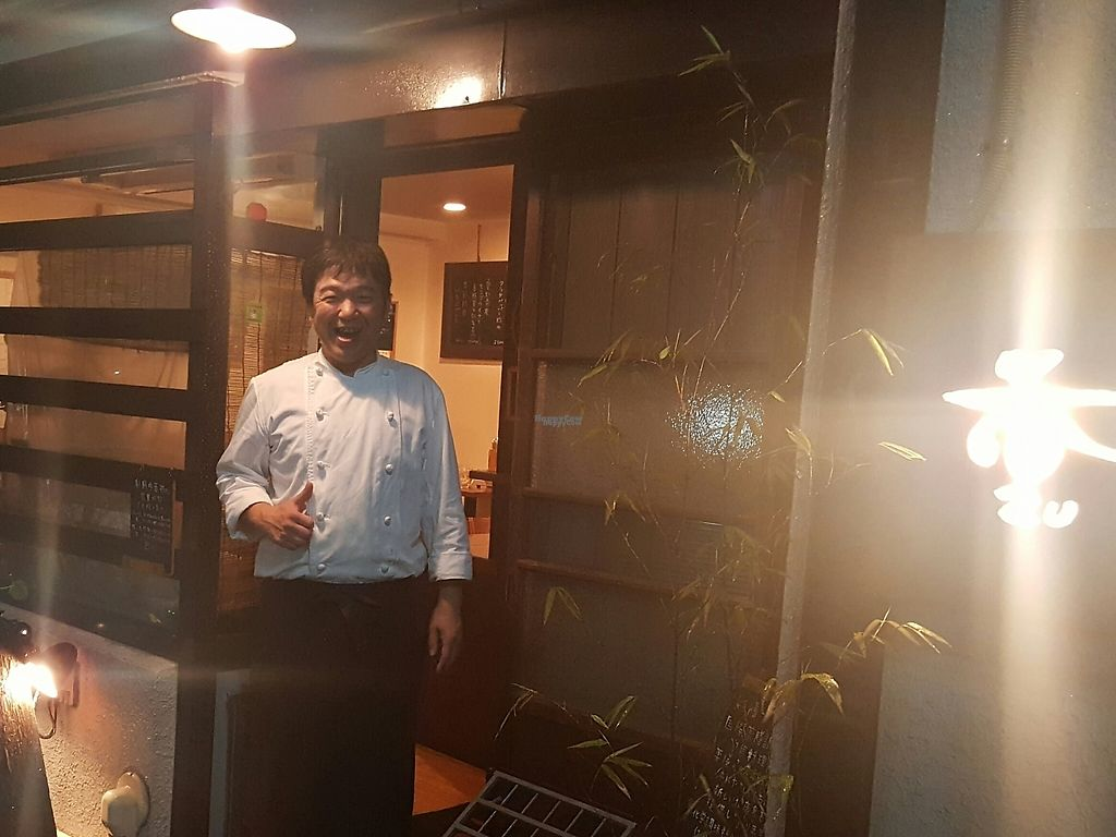 """Photo of Saizencyuka anzu  by <a href=""""/members/profile/Salexa25"""">Salexa25</a> <br/>The owner, who has had the restaurant open for 15 years and has had people from all over the globe visit.   <br/> April 8, 2017  - <a href='/contact/abuse/image/87323/245750'>Report</a>"""