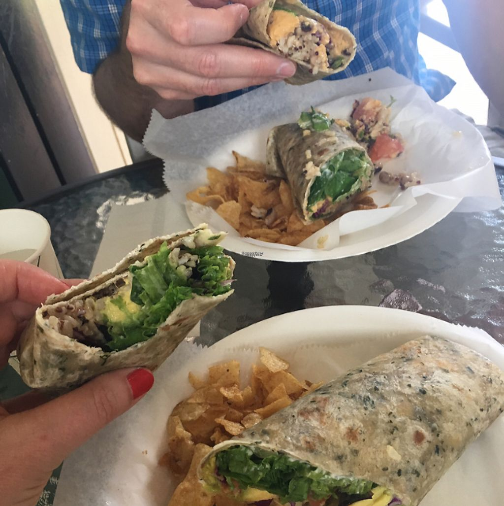 """Photo of The Greenery Cafe  by <a href=""""/members/profile/sarahveg"""">sarahveg</a> <br/>Best wraps I've ever had!  <br/> February 19, 2017  - <a href='/contact/abuse/image/87327/228357'>Report</a>"""
