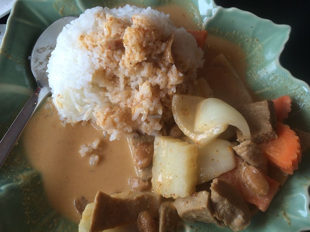 """Photo of Simply Thai  by <a href=""""/members/profile/LeslieLinder"""">LeslieLinder</a> <br/>Masaman curry with mock chicken (seitan) <br/> March 16, 2017  - <a href='/contact/abuse/image/87329/237020'>Report</a>"""