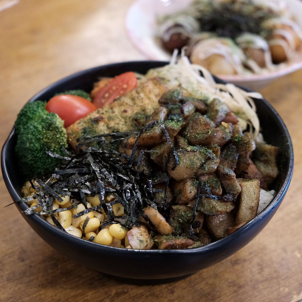 """Photo of Tian Zhi Yu - Heaven Driven Vegan  by <a href=""""/members/profile/HaileyPoLa"""">HaileyPoLa</a> <br/>mushroom donburi <br/> July 5, 2017  - <a href='/contact/abuse/image/87346/276875'>Report</a>"""