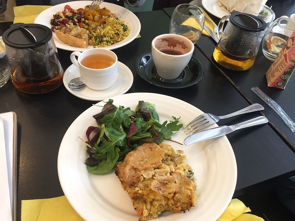 """Photo of Retreat Kitchen  by <a href=""""/members/profile/candii_h"""">candii_h</a> <br/> Lasagne Quiche Salads 70% dark hot chocolate (w/ coconut milk) Earl grey tea with lemon <br/> March 23, 2017  - <a href='/contact/abuse/image/87349/239937'>Report</a>"""