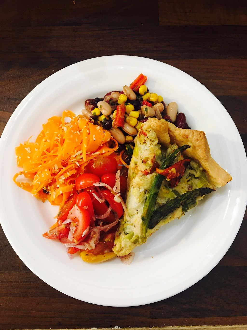 """Photo of Retreat Kitchen  by <a href=""""/members/profile/ClaireLangdon"""">ClaireLangdon</a> <br/>Quiche and Small Salad Plate  <br/> August 16, 2017  - <a href='/contact/abuse/image/87349/293377'>Report</a>"""
