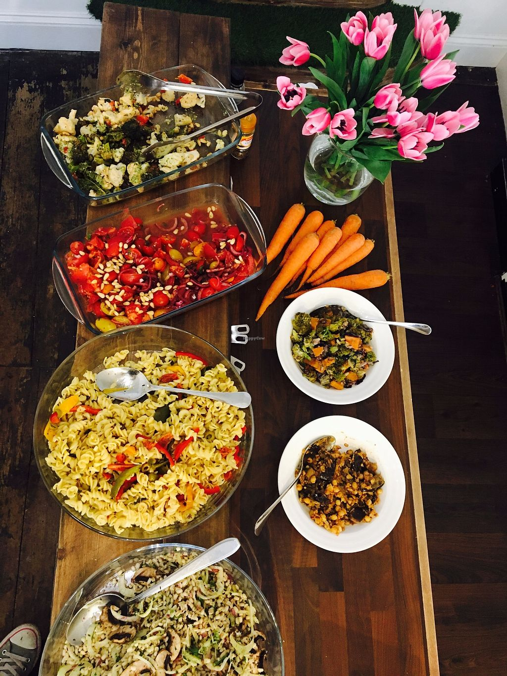 """Photo of Retreat Kitchen  by <a href=""""/members/profile/ClaireLangdon"""">ClaireLangdon</a> <br/>Our weekday Salad Bar <br/> August 16, 2017  - <a href='/contact/abuse/image/87349/293378'>Report</a>"""