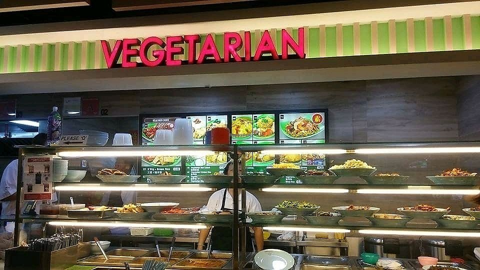 """Photo of NorthPoint Shopping Centre Vegetarian Food Stall  by <a href=""""/members/profile/Lovemyveg"""">Lovemyveg</a> <br/>stall <br/> September 6, 2017  - <a href='/contact/abuse/image/87355/301374'>Report</a>"""