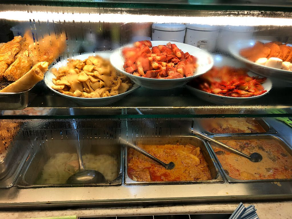 """Photo of NorthPoint Shopping Centre Vegetarian Food Stall  by <a href=""""/members/profile/CherylQuincy"""">CherylQuincy</a> <br/>Curry and mocked meats <br/> March 28, 2018  - <a href='/contact/abuse/image/87355/377049'>Report</a>"""