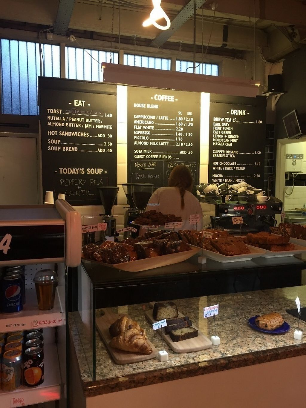 """Photo of Cafe 164  by <a href=""""/members/profile/StevieSurf"""">StevieSurf</a> <br/>Counter and cakes  <br/> February 23, 2017  - <a href='/contact/abuse/image/87361/229778'>Report</a>"""