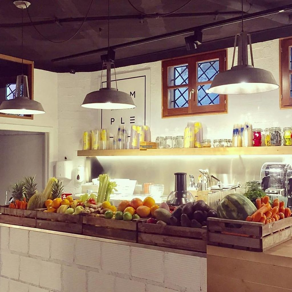 """Photo of Simple - Smart Food Bar  by <a href=""""/members/profile/MMaree"""">MMaree</a> <br/>Fresh veggies and fruits on the counter! (Photo: Simple's Facebook-page) <br/> February 18, 2017  - <a href='/contact/abuse/image/87378/228005'>Report</a>"""