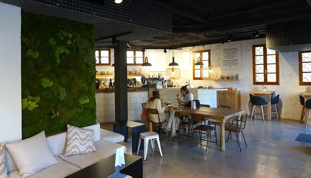 """Photo of Simple - Smart Food Bar  by <a href=""""/members/profile/MMaree"""">MMaree</a> <br/>Interior, modern design and cool moss wall <br/> February 18, 2017  - <a href='/contact/abuse/image/87378/228012'>Report</a>"""
