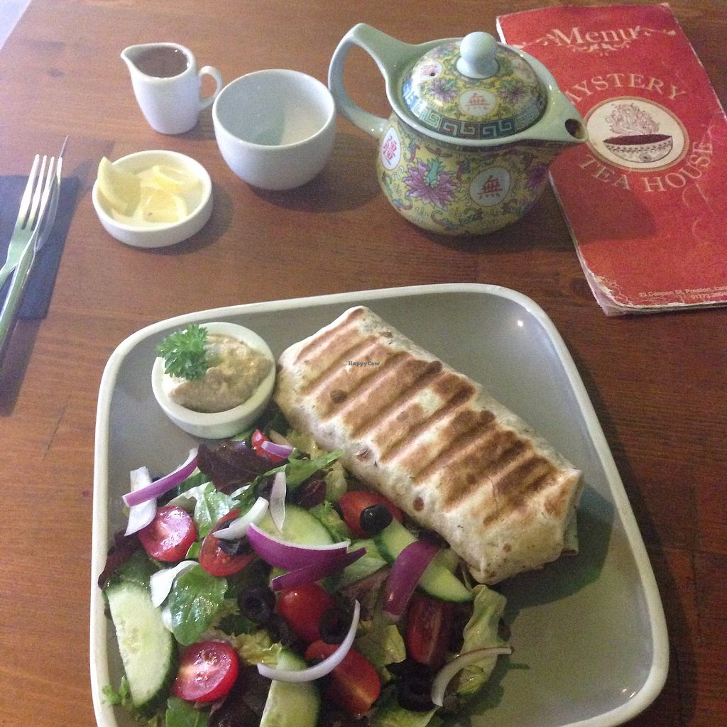 """Photo of Mystery Tea House  by <a href=""""/members/profile/Daisystella"""">Daisystella</a> <br/>❤️❤️delicious vegan wrap <br/> September 22, 2017  - <a href='/contact/abuse/image/87411/307111'>Report</a>"""