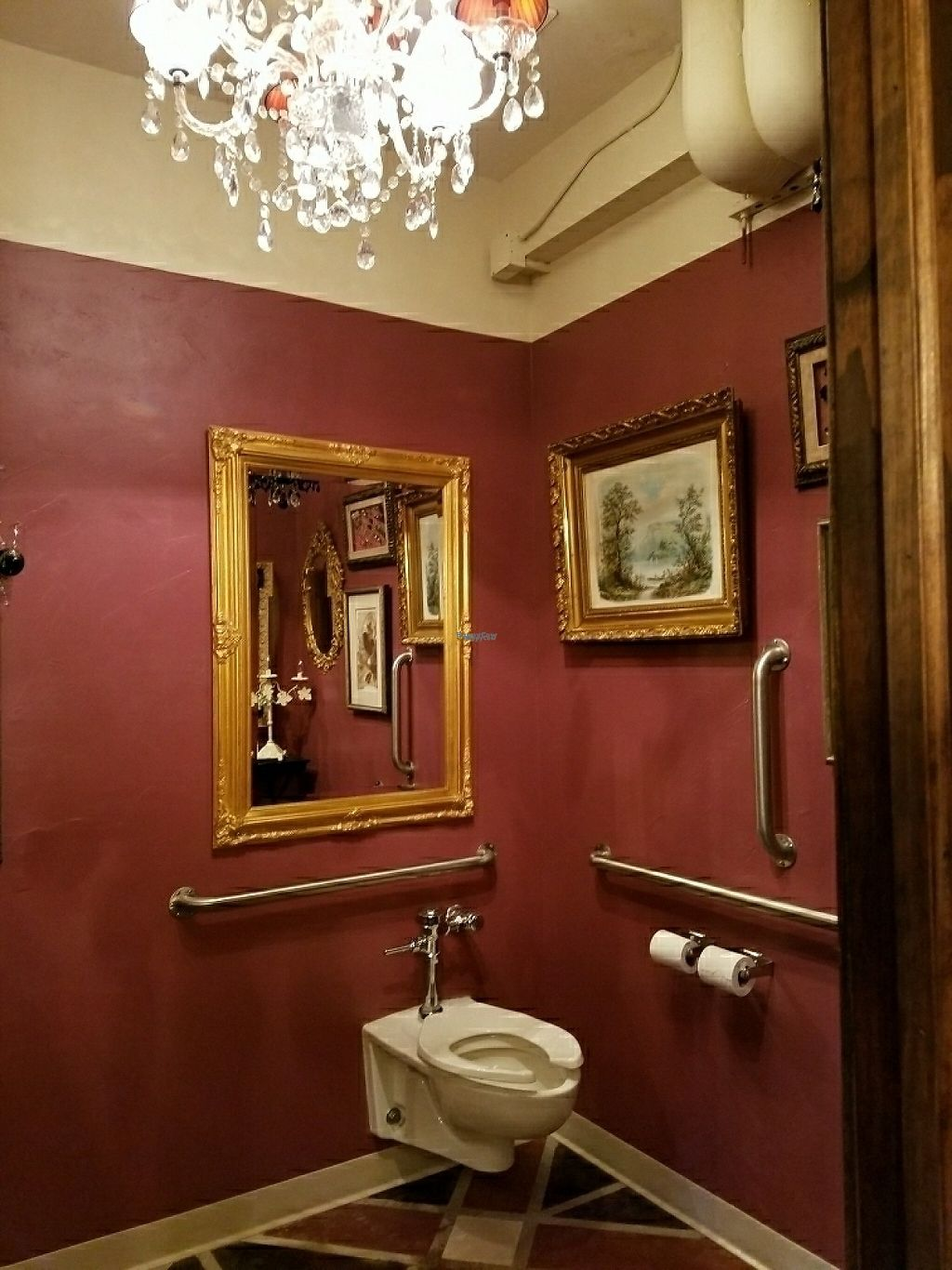 """Photo of Music Forest Cafe  by <a href=""""/members/profile/EverydayTastiness"""">EverydayTastiness</a> <br/>women's bathroom  <br/> February 24, 2017  - <a href='/contact/abuse/image/87417/230087'>Report</a>"""
