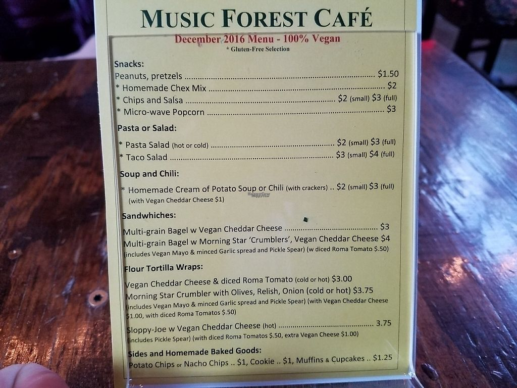 """Photo of Music Forest Cafe  by <a href=""""/members/profile/EverydayTastiness"""">EverydayTastiness</a> <br/>menu <br/> February 24, 2017  - <a href='/contact/abuse/image/87417/230088'>Report</a>"""