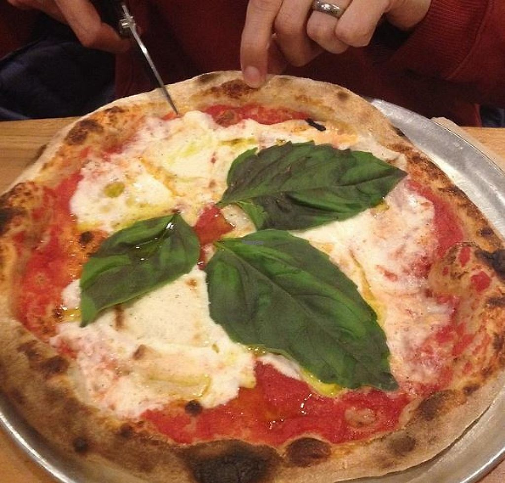 """Photo of Pompieri Pizza  by <a href=""""/members/profile/turtleveg"""">turtleveg</a> <br/>vegan margherita with fresh basil and house-made fresh mozzarella <br/> February 21, 2017  - <a href='/contact/abuse/image/87423/228883'>Report</a>"""