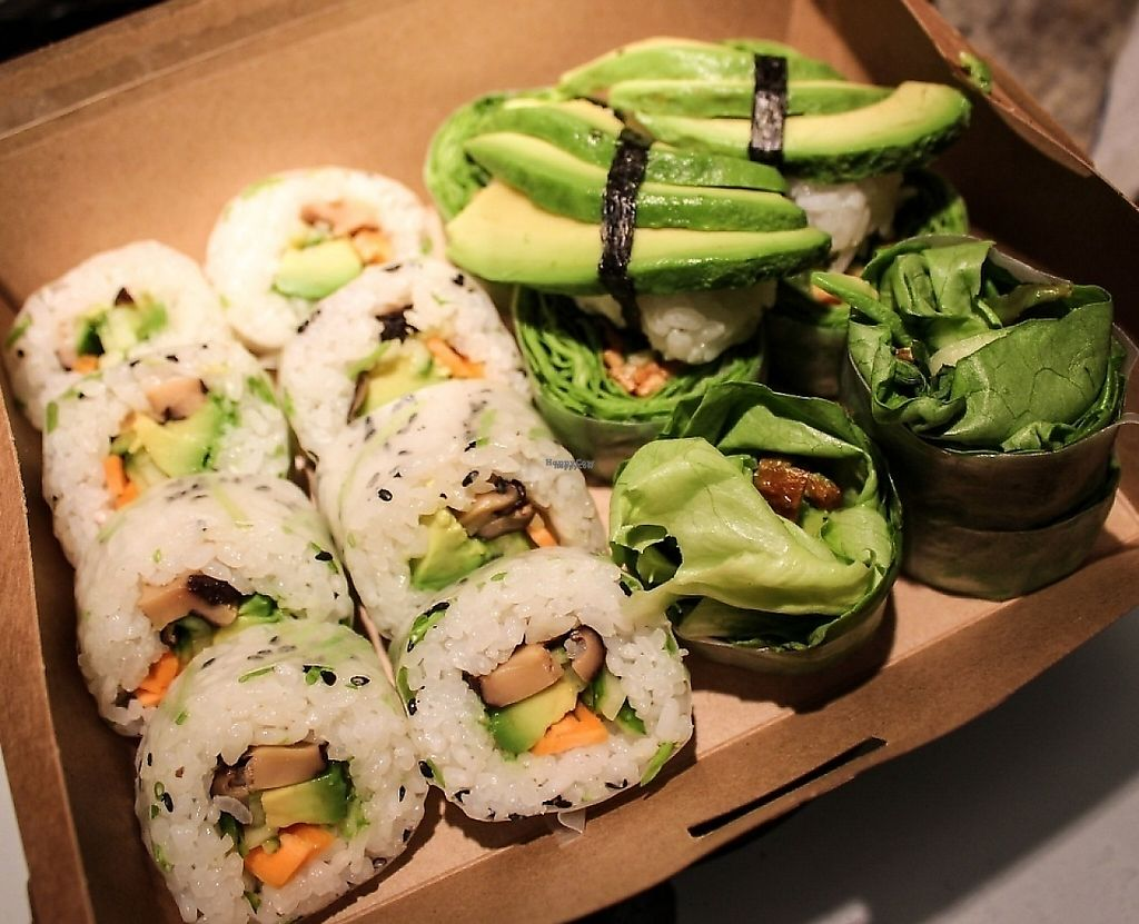 "Photo of Sushi V Dushi  by <a href=""/members/profile/SueClesh"">SueClesh</a> <br/>vegan selection <br/> March 13, 2017  - <a href='/contact/abuse/image/87428/237530'>Report</a>"