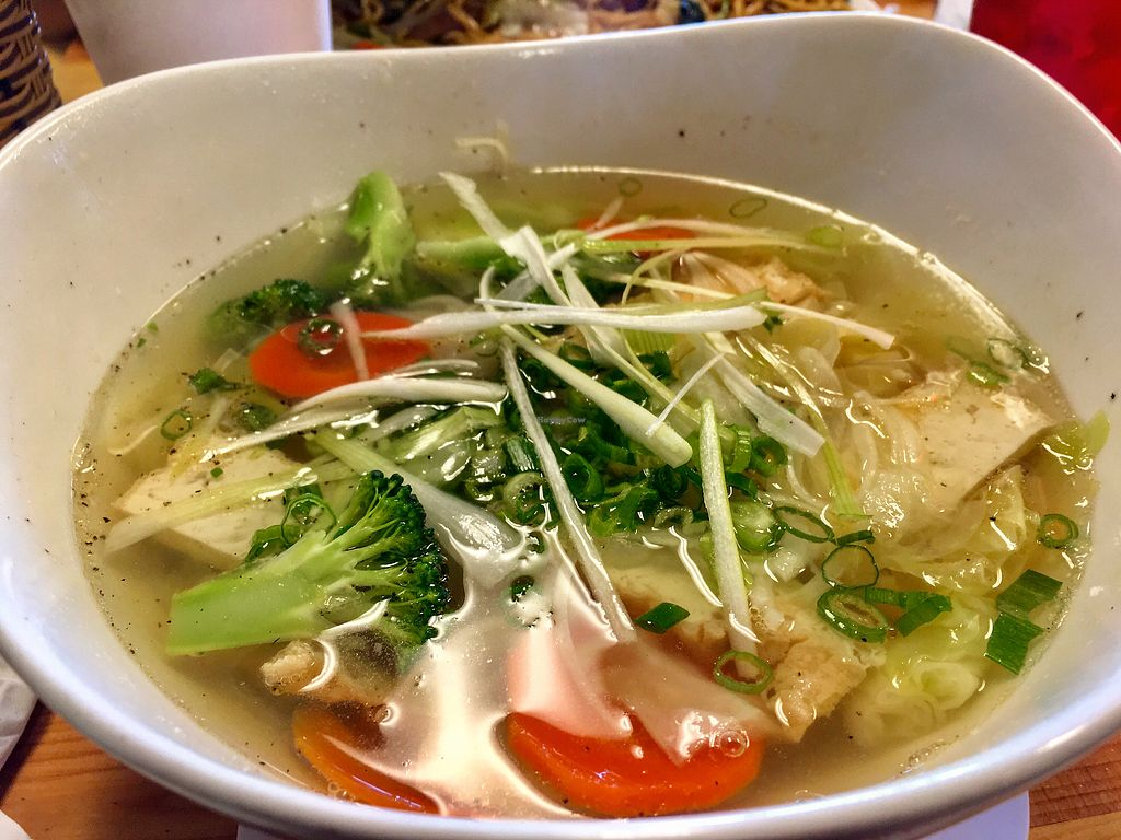 "Photo of Wat Da Pho  by <a href=""/members/profile/risamarie_mk"">risamarie_mk</a> <br/>Vegetarian Noodle Soup - Hu tieu chay <br/> July 28, 2017  - <a href='/contact/abuse/image/87484/285977'>Report</a>"