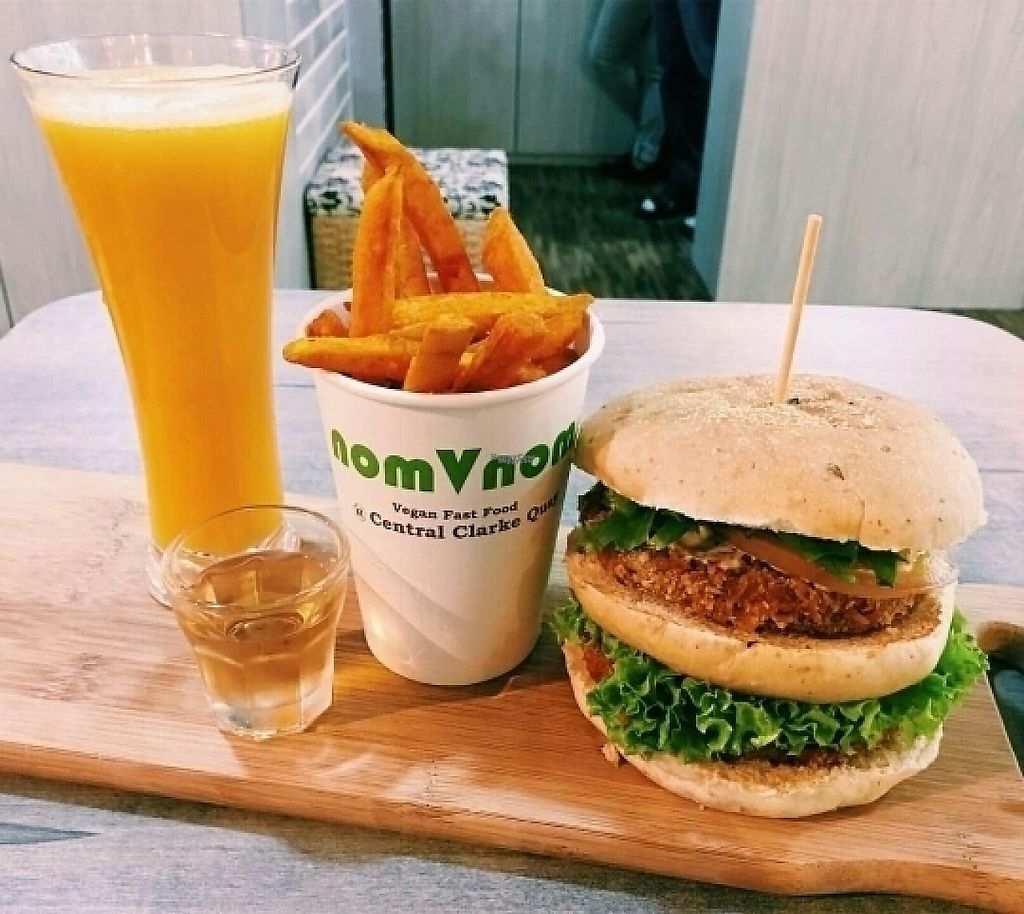 "Photo of NomVnom - Tai Seng St  by <a href=""/members/profile/JimmySeah"">JimmySeah</a> <br/>rocket tower burger <br/> March 2, 2017  - <a href='/contact/abuse/image/87507/231844'>Report</a>"