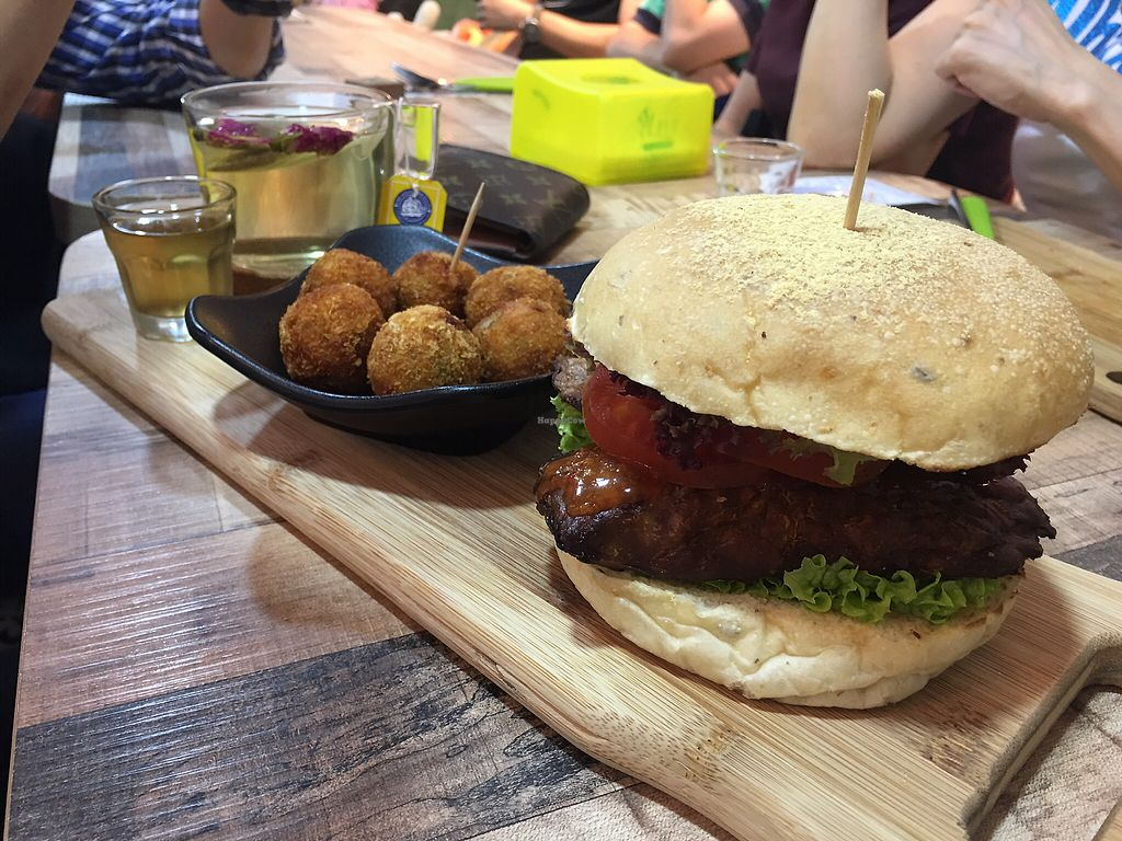 "Photo of NomVnom - Tai Seng St  by <a href=""/members/profile/CherylQuincy"">CherylQuincy</a> <br/>Goro balls and Tempehlicious burger <br/> January 21, 2018  - <a href='/contact/abuse/image/87507/349168'>Report</a>"