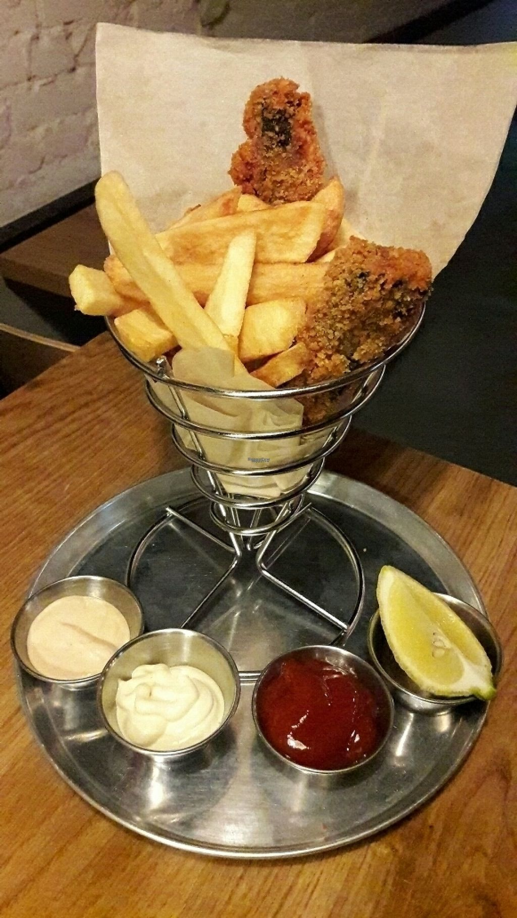 """Photo of Goodness  by <a href=""""/members/profile/OdeliaCohen"""">OdeliaCohen</a> <br/>""""Fish"""" and chips. Goodness, Tel Aviv <br/> February 23, 2017  - <a href='/contact/abuse/image/87538/229715'>Report</a>"""
