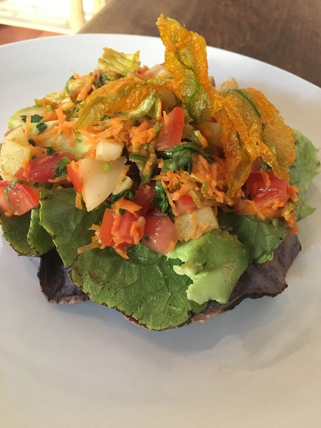 """Photo of Latitud 17 - maybe closed  by <a href=""""/members/profile/Latitud"""">Latitud</a> <br/>Ceviche style vegan tostada!! ?? <br/> February 22, 2017  - <a href='/contact/abuse/image/87541/229016'>Report</a>"""