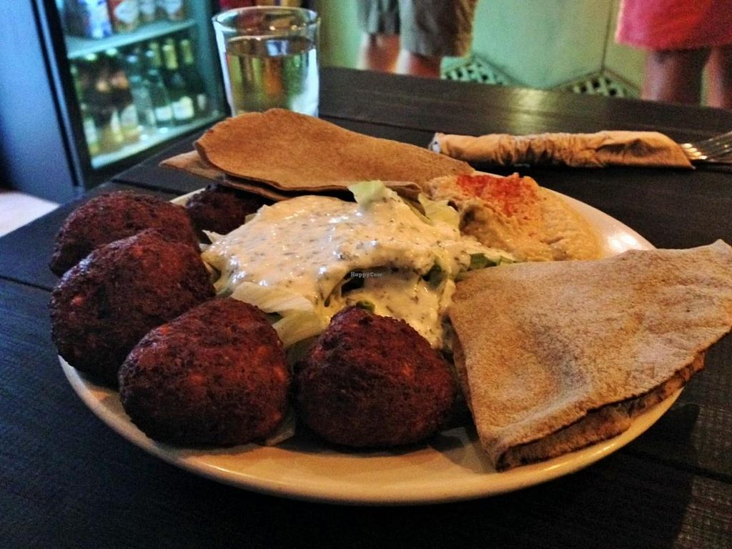 "Photo of Chilimosa  by <a href=""/members/profile/JustaPack"">JustaPack</a> <br/>Falafel Plate with Hummus and Salad <br/> July 16, 2014  - <a href='/contact/abuse/image/8754/74170'>Report</a>"
