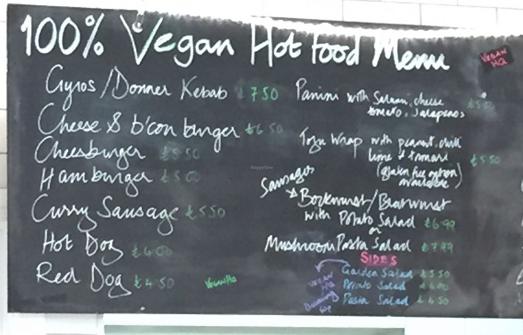 """Photo of Vegan HQ  by <a href=""""/members/profile/Jrosworld"""">Jrosworld</a> <br/>The menu <br/> August 4, 2017  - <a href='/contact/abuse/image/87586/288690'>Report</a>"""