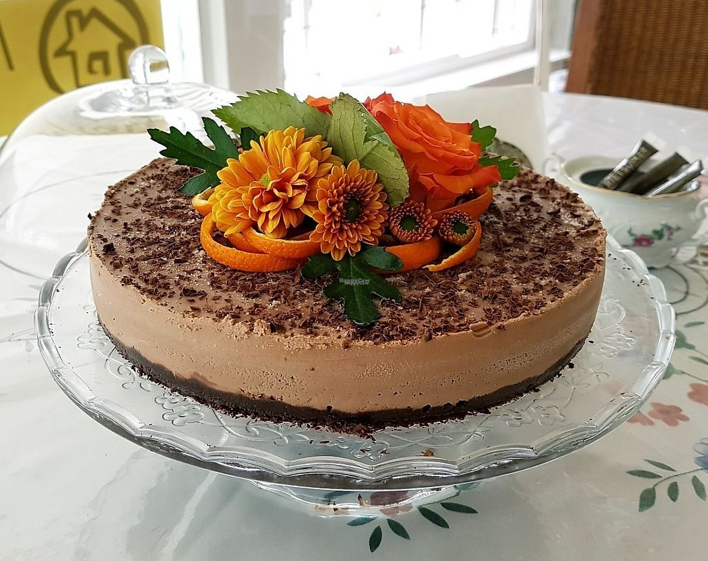"""Photo of Matarbur and Cafe Kaja  by <a href=""""/members/profile/KarenJ%C3%B3nsdottir"""">KarenJónsdottir</a> <br/>Our raw cakes are Vegan and gluteinfree. Here you can see orange chocolate cake  <br/> March 2, 2017  - <a href='/contact/abuse/image/87597/231857'>Report</a>"""