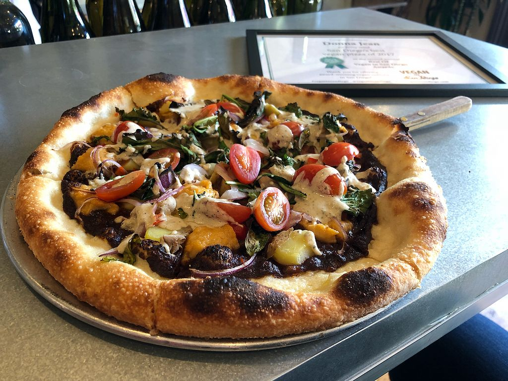"""Photo of Donna Jean  by <a href=""""/members/profile/veganinsandiego"""">veganinsandiego</a> <br/>Voted San Diego's Best Vegan Pizza of 2017 in the Vegan in San Diego annual poll <br/> February 24, 2018  - <a href='/contact/abuse/image/87600/362978'>Report</a>"""