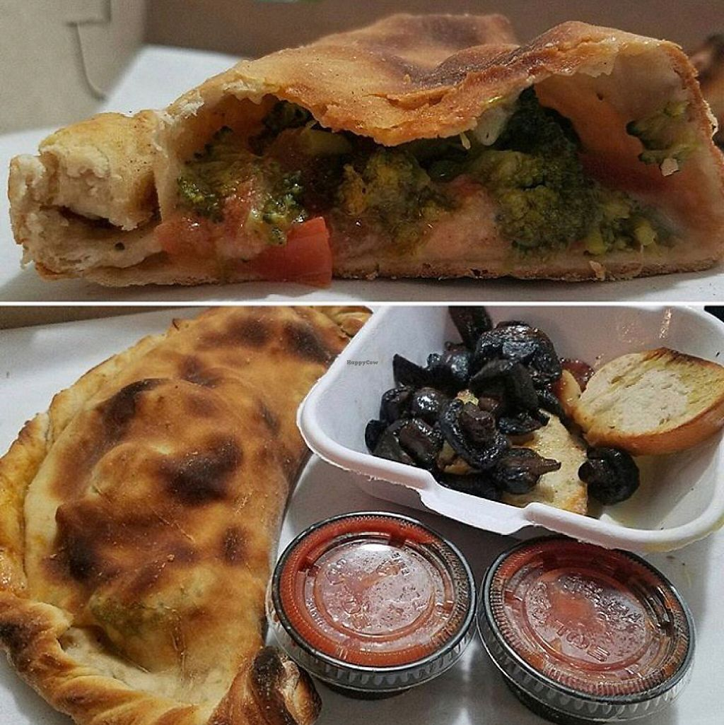 """Photo of The Greyhound Cafe  by <a href=""""/members/profile/JamieLynne"""">JamieLynne</a> <br/>calzone and beefy mushrooms <br/> May 7, 2017  - <a href='/contact/abuse/image/87601/256483'>Report</a>"""