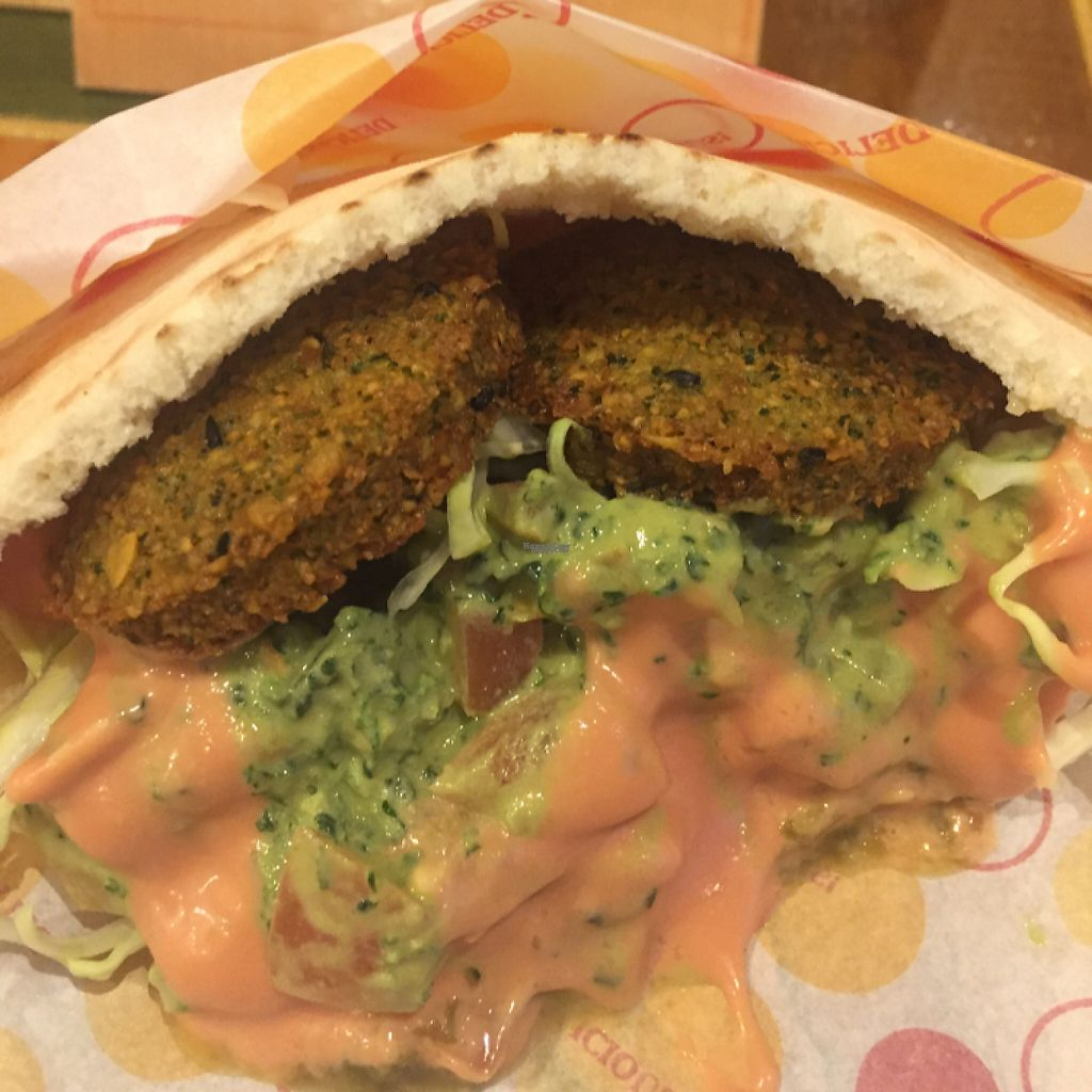 """Photo of Gold Falafel  by <a href=""""/members/profile/Vegeiko"""">Vegeiko</a> <br/>Farafel in a pita bread <br/> February 25, 2017  - <a href='/contact/abuse/image/87607/230123'>Report</a>"""