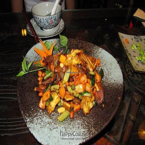 """Photo of Cafe China  by <a href=""""/members/profile/Ashni"""">Ashni</a> <br/>Gong Bao 'chicken' with vegetables and peanuts <br/> August 10, 2010  - <a href='/contact/abuse/image/8760/5489'>Report</a>"""