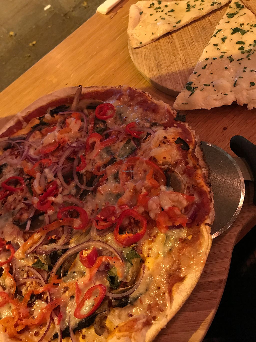 """Photo of The Stable  by <a href=""""/members/profile/LucyRoadhouse"""">LucyRoadhouse</a> <br/>Spicy Vegan Pizza <br/> November 26, 2017  - <a href='/contact/abuse/image/87614/329448'>Report</a>"""