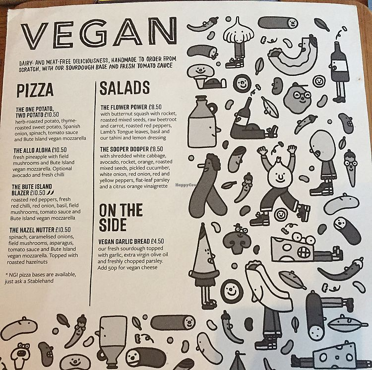 """Photo of The Stable  by <a href=""""/members/profile/Ashni"""">Ashni</a> <br/>vegan menu <br/> July 4, 2017  - <a href='/contact/abuse/image/87624/276770'>Report</a>"""