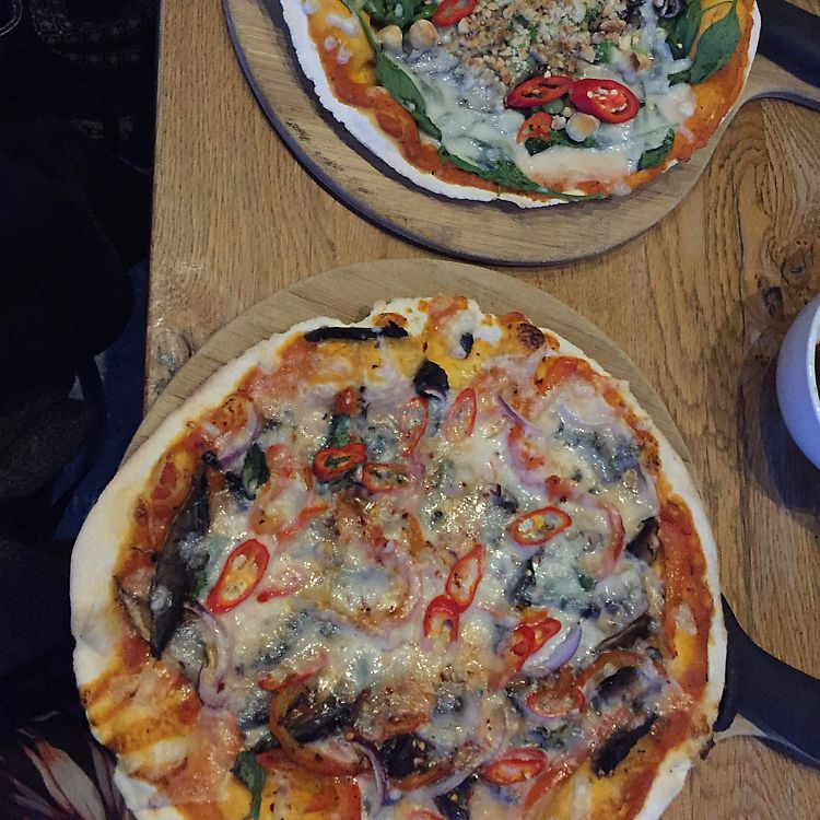 """Photo of The Stable  by <a href=""""/members/profile/Ashni"""">Ashni</a> <br/>vegan pizzas <br/> July 4, 2017  - <a href='/contact/abuse/image/87624/276771'>Report</a>"""