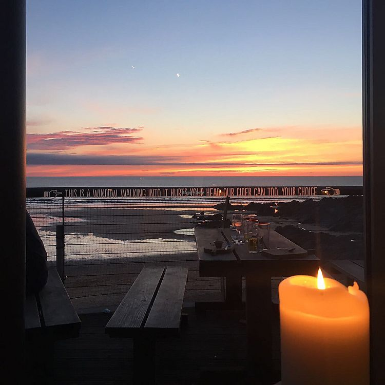 """Photo of The Stable  by <a href=""""/members/profile/Ashni"""">Ashni</a> <br/>sunset view from the restaurant  <br/> July 4, 2017  - <a href='/contact/abuse/image/87624/276772'>Report</a>"""