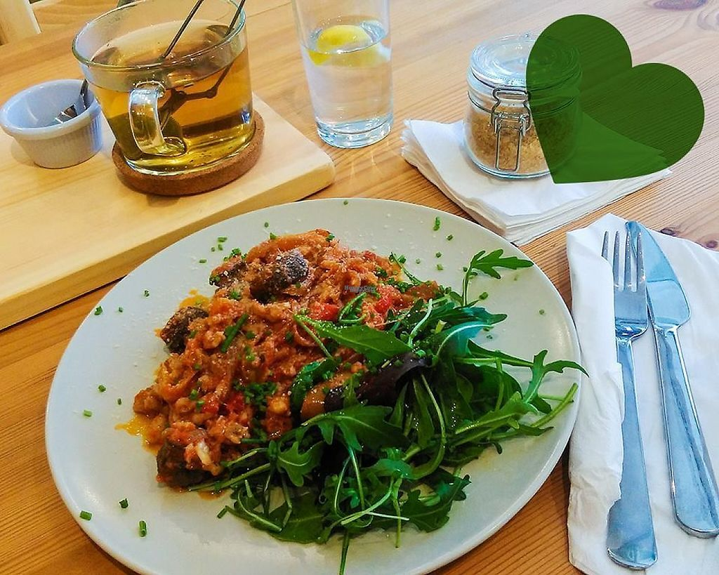 """Photo of Alplings  by <a href=""""/members/profile/MartinAuer"""">MartinAuer</a> <br/>Had the chefs pasta which was vegetarian however there is always Vegan Goulash, Vegan Alpine dumplings - alplings.. -, KUKU which is great, and often VG soups on too <br/> February 24, 2017  - <a href='/contact/abuse/image/87635/230046'>Report</a>"""