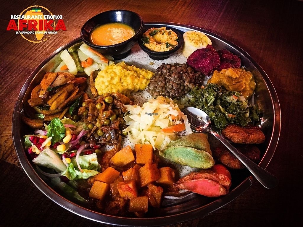 "Photo of Etiopico Afrika  by <a href=""/members/profile/IvanDrudi"">IvanDrudi</a> <br/>A BIG plate for ""the vegan night"" <br/> March 3, 2017  - <a href='/contact/abuse/image/87658/232082'>Report</a>"