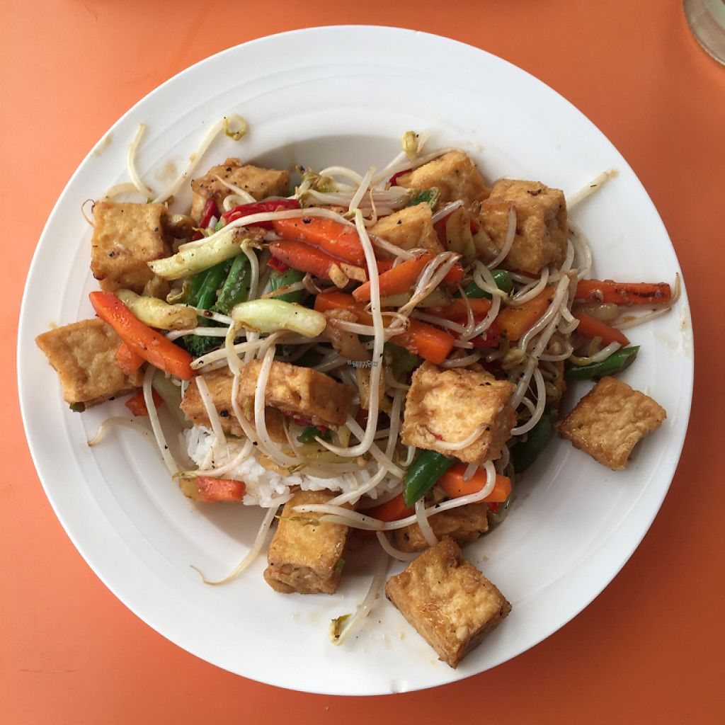 "Photo of Viki Cafe  by <a href=""/members/profile/corrinalyon"">corrinalyon</a> <br/>tofu and vege on rice  <br/> February 27, 2017  - <a href='/contact/abuse/image/87672/230958'>Report</a>"