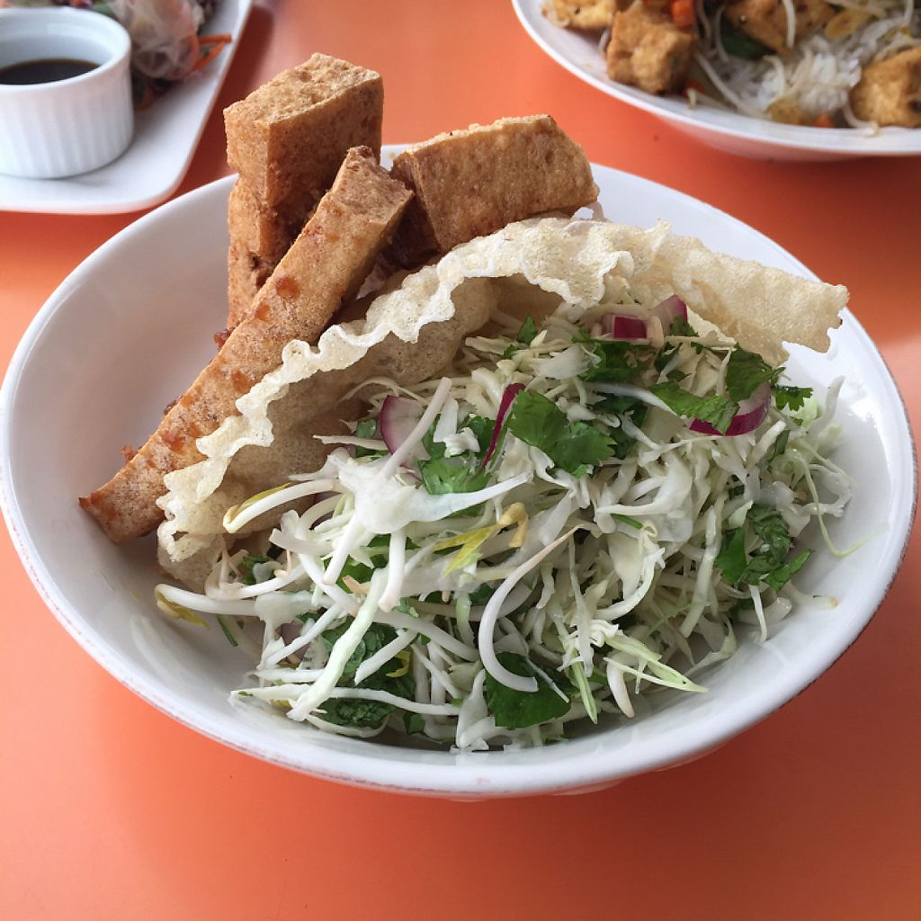 "Photo of Viki Cafe  by <a href=""/members/profile/corrinalyon"">corrinalyon</a> <br/>tofu salad <br/> February 27, 2017  - <a href='/contact/abuse/image/87672/230959'>Report</a>"
