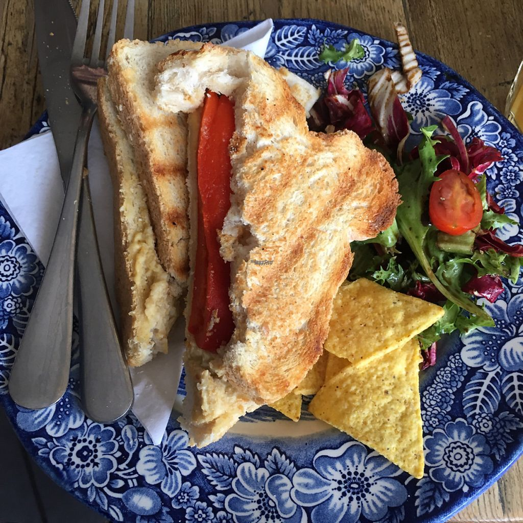 """Photo of The Artisan  by <a href=""""/members/profile/romyhoskin"""">romyhoskin</a> <br/>Red pepper and hummus toasted sandwich  <br/> April 15, 2017  - <a href='/contact/abuse/image/87681/248320'>Report</a>"""