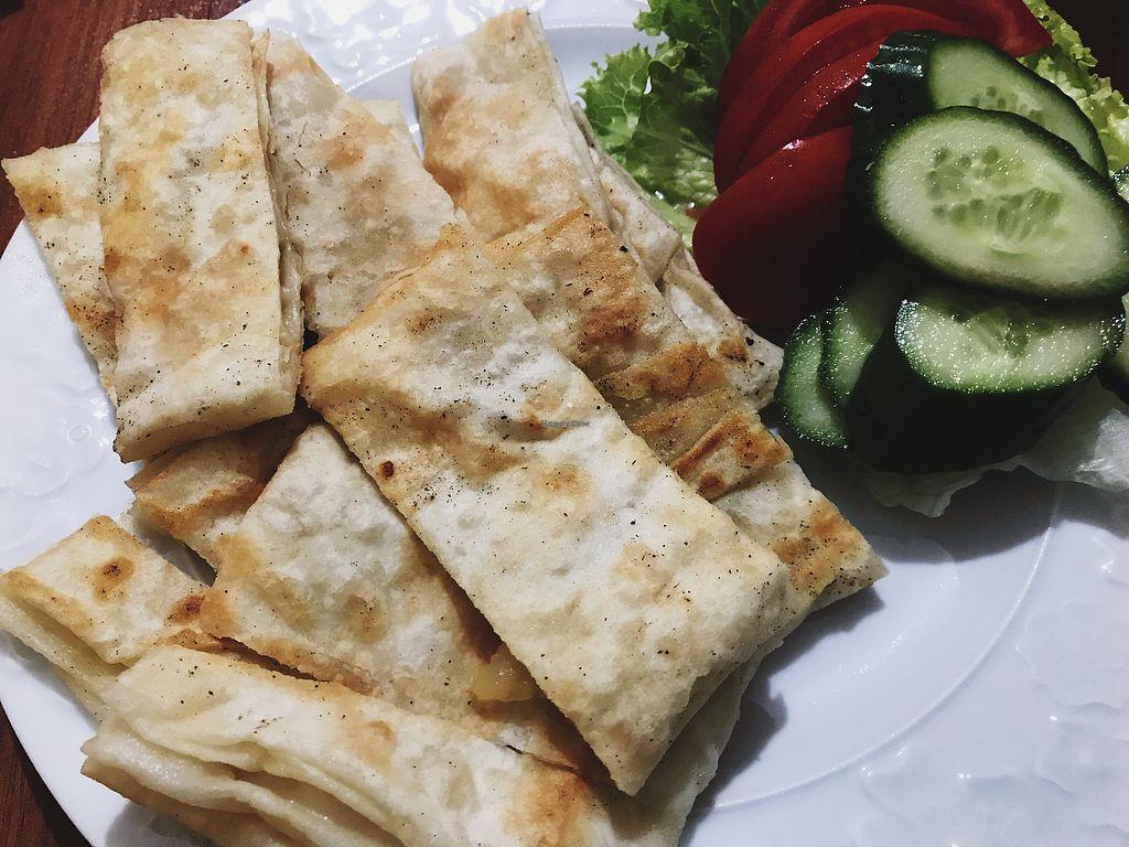 "Photo of Feslegen Butik  by <a href=""/members/profile/veganoteacher"">veganoteacher</a> <br/>Vegan Gozleme (Turkish pancake with eggplant) <br/> October 14, 2017  - <a href='/contact/abuse/image/87694/315131'>Report</a>"