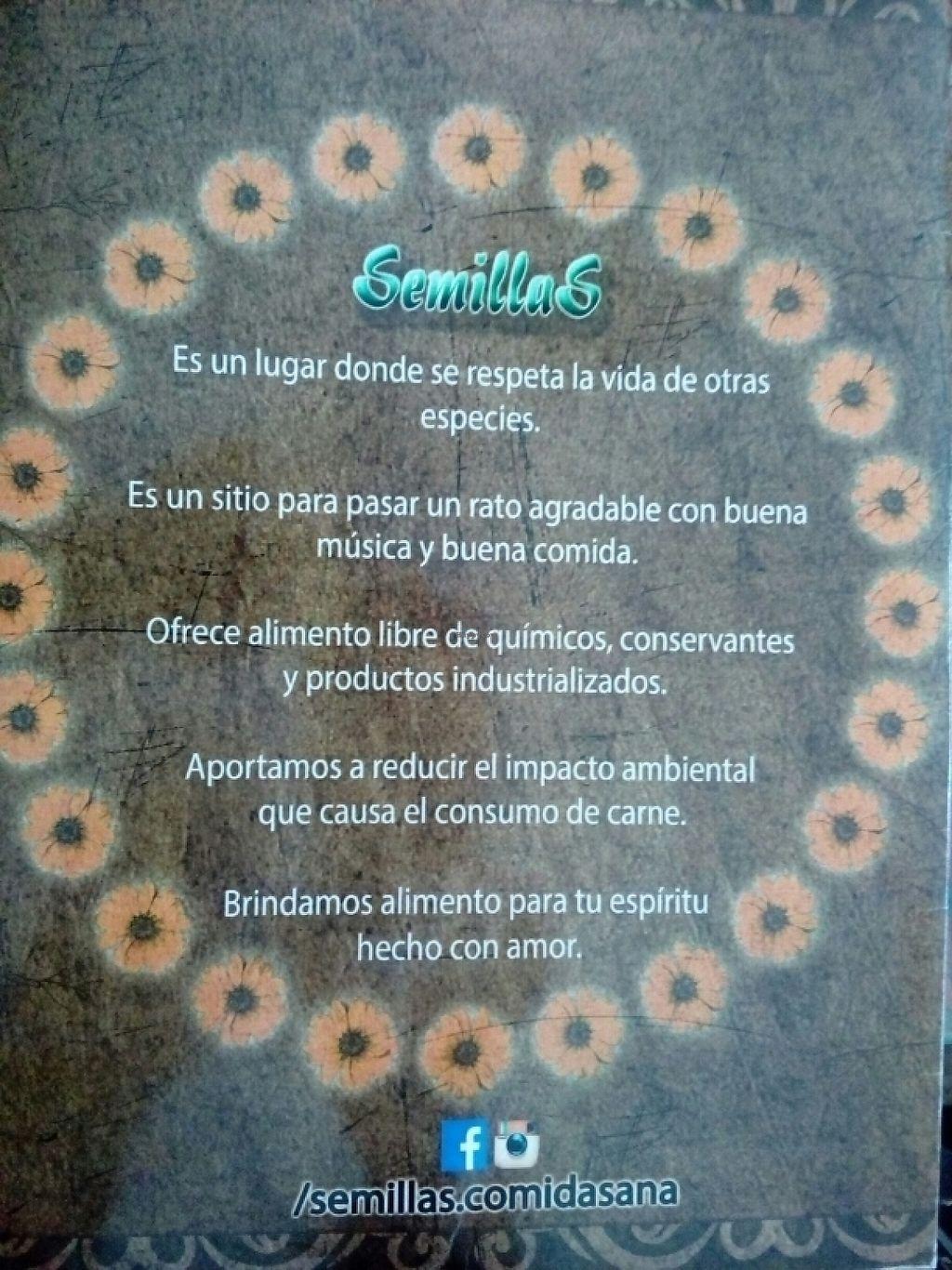 """Photo of Semillas Comida Sana  by <a href=""""/members/profile/falatel"""">falatel</a> <br/>Filosofia de Semillas <br/> June 5, 2017  - <a href='/contact/abuse/image/87708/266161'>Report</a>"""