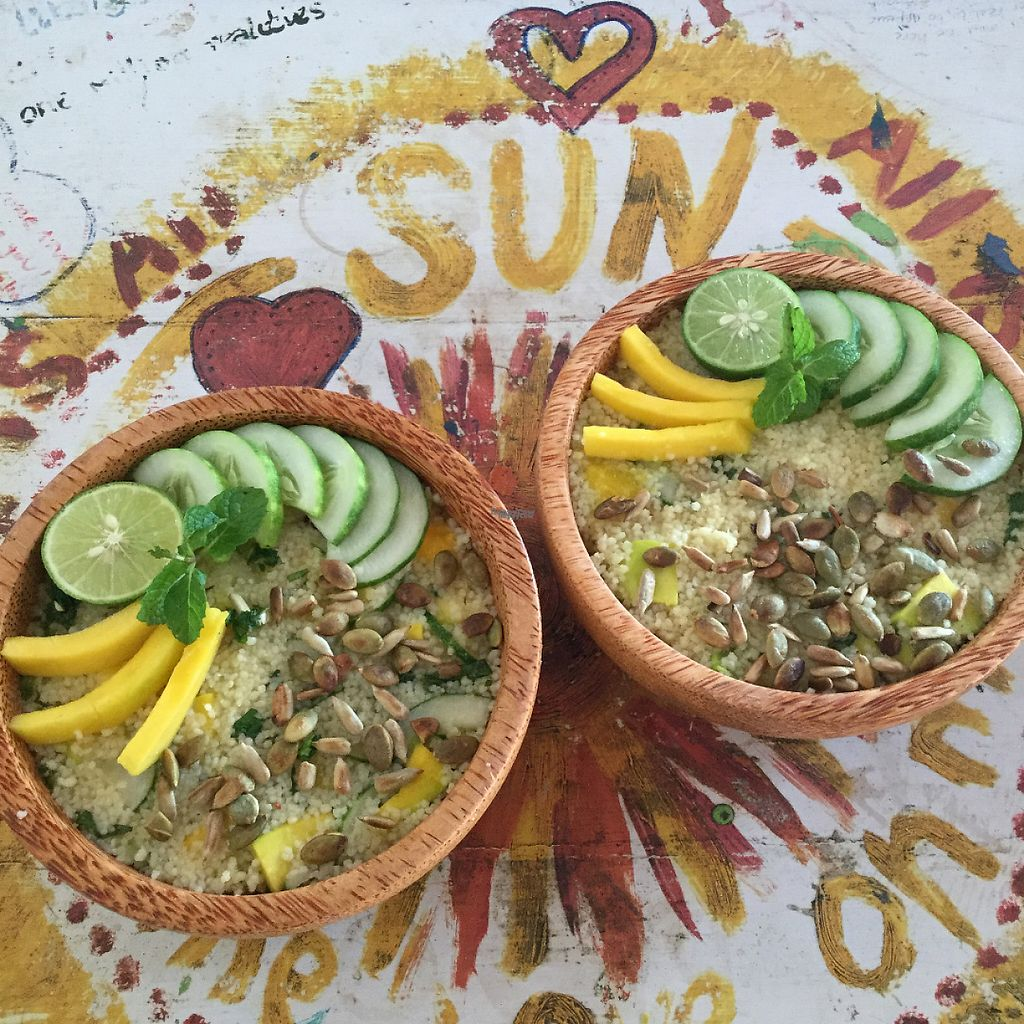 """Photo of Good Earth Cafe  by <a href=""""/members/profile/GoodEarthCafeGiliAir"""">GoodEarthCafeGiliAir</a> <br/>Summer Couscous Salad <br/> February 25, 2017  - <a href='/contact/abuse/image/87723/230152'>Report</a>"""