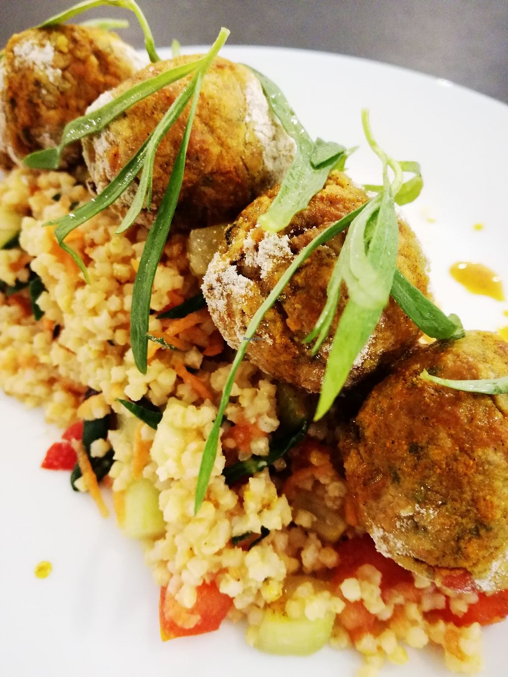 "Photo of Pao Nosso  by <a href=""/members/profile/FilipeMelo"">FilipeMelo</a> <br/>Vegan Falafel with millet and tarragon <br/> February 7, 2018  - <a href='/contact/abuse/image/87727/356011'>Report</a>"