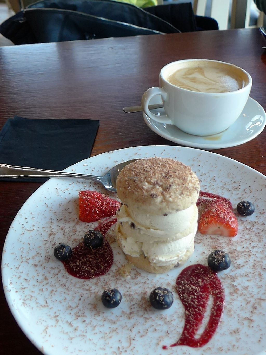 """Photo of Fjara Cafe Bar  by <a href=""""/members/profile/gffWillie"""">gffWillie</a> <br/>Delicious vegan ice-cream and home-made shortbread dessert <br/> April 15, 2018  - <a href='/contact/abuse/image/87770/386487'>Report</a>"""
