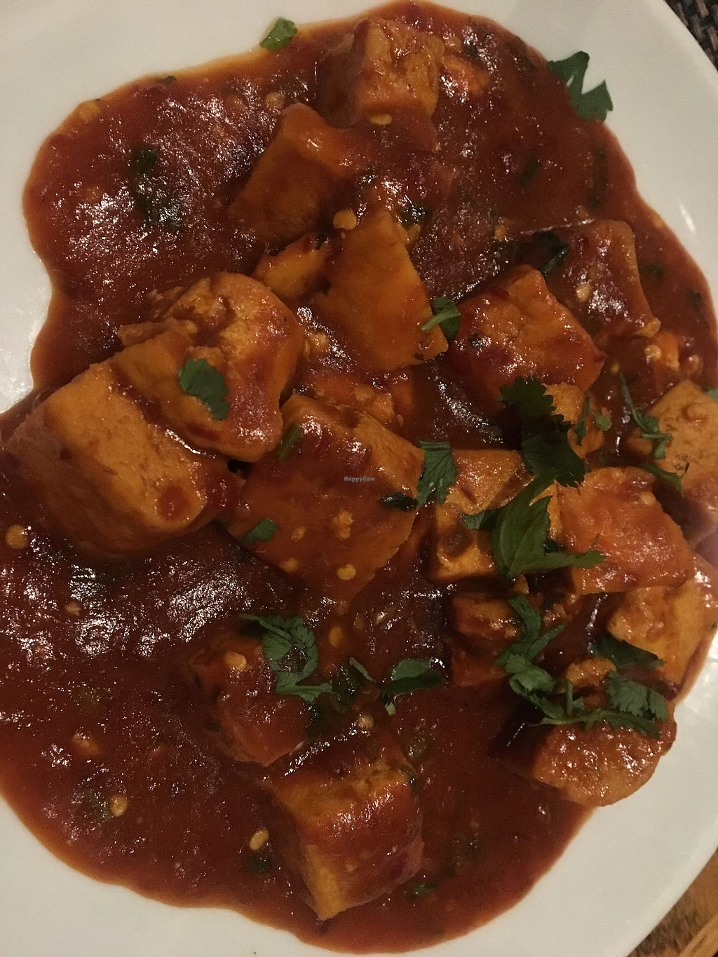 "Photo of Chutney Masala  by <a href=""/members/profile/LilMsVegan"">LilMsVegan</a> <br/>Tofu Manchurian - spicy goodness  <br/> December 1, 2017  - <a href='/contact/abuse/image/87826/331127'>Report</a>"