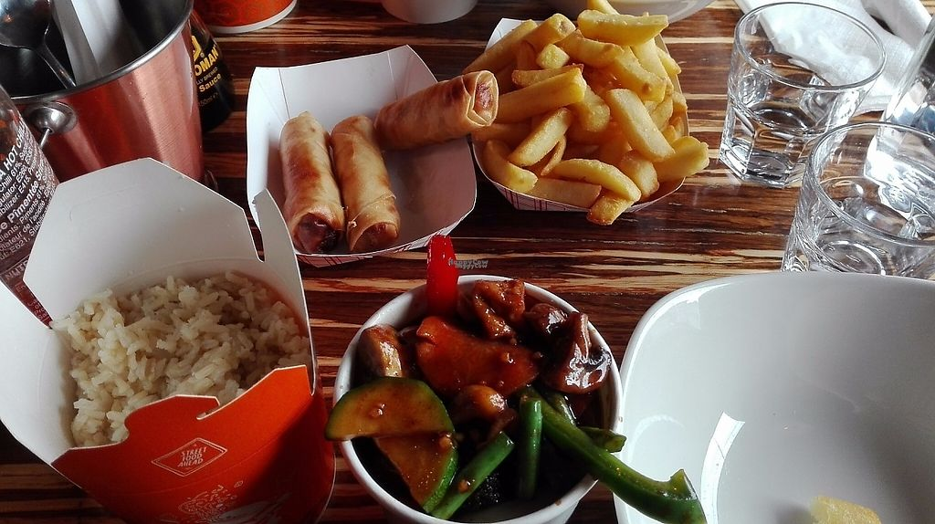 """Photo of Lana Asian Street Food  by <a href=""""/members/profile/Mathilde31"""">Mathilde31</a> <br/>Chili and cashew nuts straight for the wok, rice, fries, vegetable spring rolls <br/> March 13, 2017  - <a href='/contact/abuse/image/87837/235824'>Report</a>"""