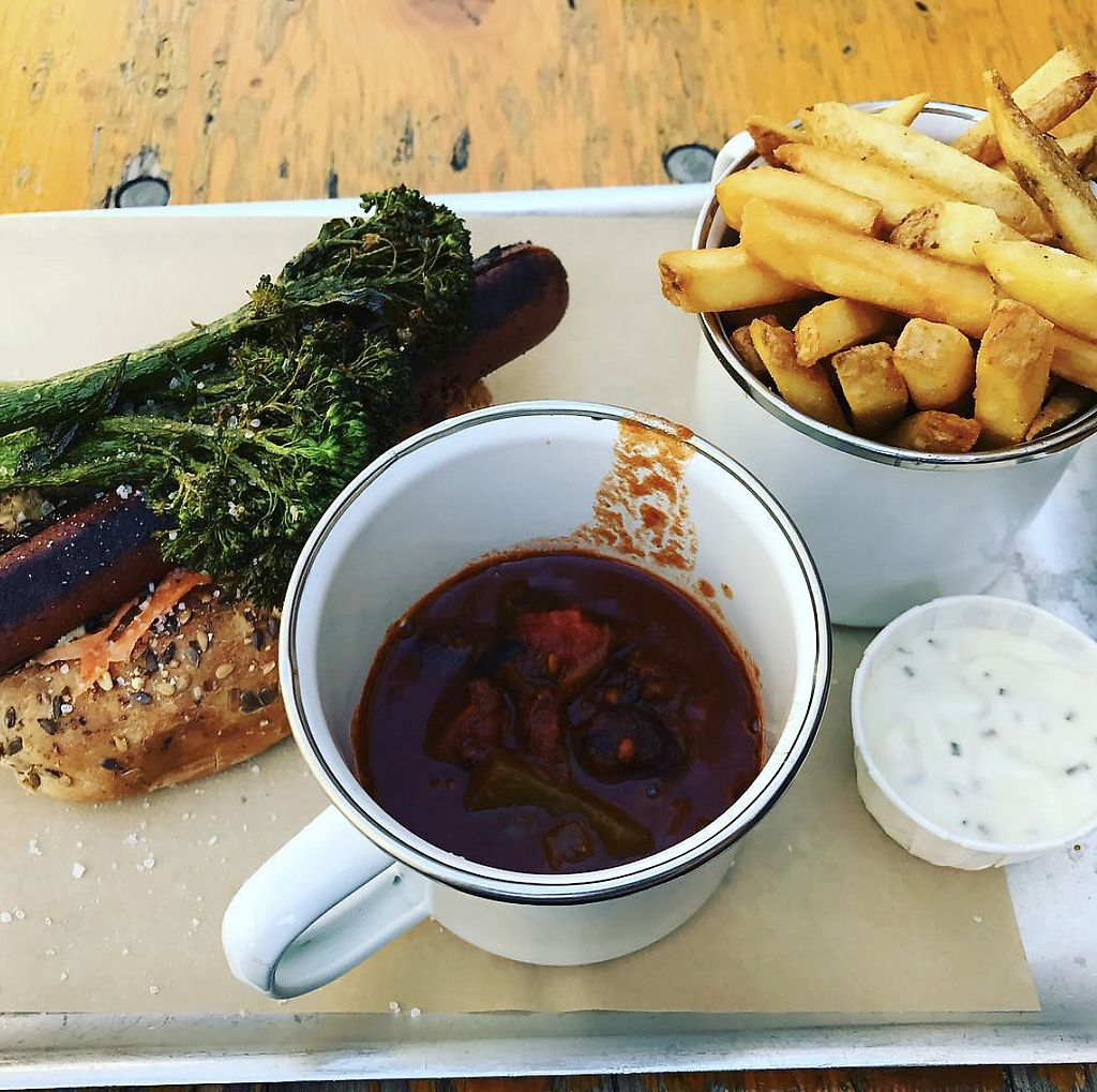 "Photo of BrewDog  by <a href=""/members/profile/TheAccessibleVegan"">TheAccessibleVegan</a> <br/>Vegan hotdog and curry  <br/> August 3, 2017  - <a href='/contact/abuse/image/87841/288248'>Report</a>"