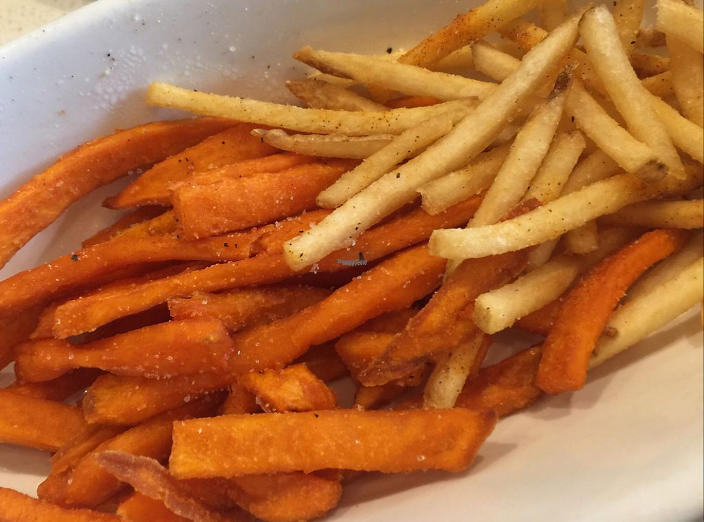 "Photo of The Counter  by <a href=""/members/profile/VegAnne_Ca"">VegAnne_Ca</a> <br/>sweet potato friend and regular fries 1/2 1/2 <br/> February 28, 2017  - <a href='/contact/abuse/image/87844/231111'>Report</a>"