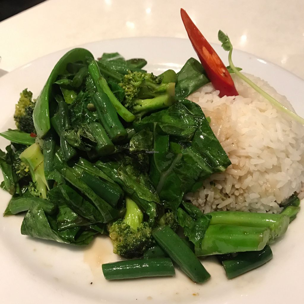 """Photo of Thai Break  by <a href=""""/members/profile/ayla.soso"""">ayla.soso</a> <br/>Vegan GF wok fried vegetables and steamed rice <br/> May 26, 2017  - <a href='/contact/abuse/image/87883/262541'>Report</a>"""